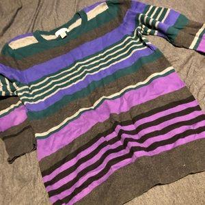 Loft striped multi color sweater
